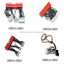 UL wholesale electrical car automobile enginee ecu jupper OBD wire harness OBD2A-OBD1 and OBD2B-OBD1with auto white connector