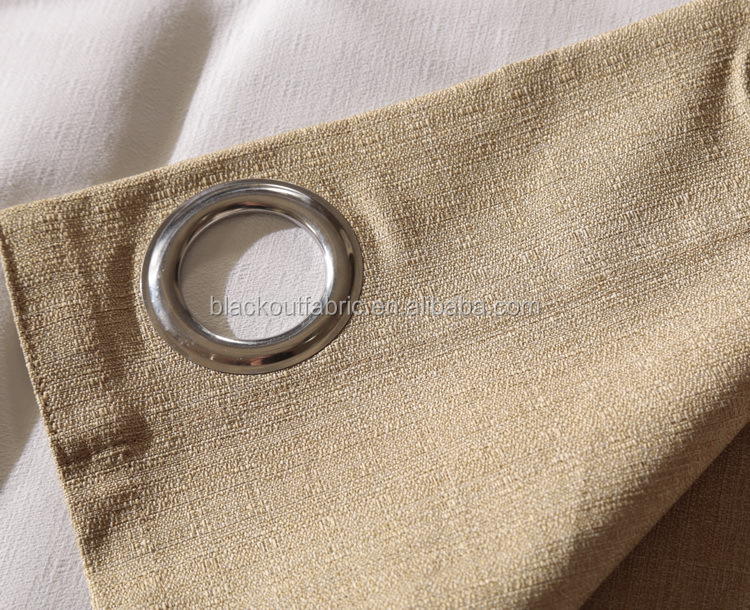 100% Polyester Linen Look 280cm Width Blackout Fabric for Curtain and Drape