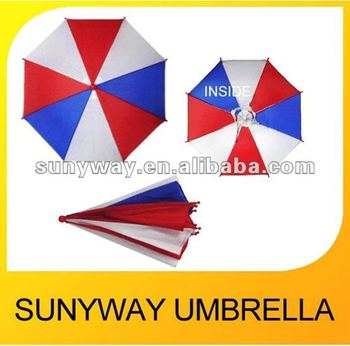 4 Colors Fishing Sunny Rainy Umbrella Hat Cheap