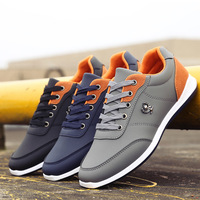 Latest Design Breathable Durable Sport Fashion Men PU Leather Shoes And Sneakers