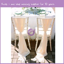 k8918 2016 white , ivory , Romantic Chiffon Drape Chair Sash