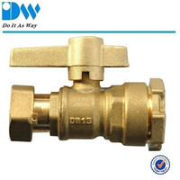Water Meter Ball Valve and Female/Free Nut