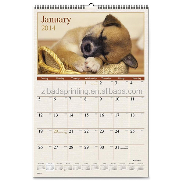 Custom New Design Wall Calendar For Promotion
