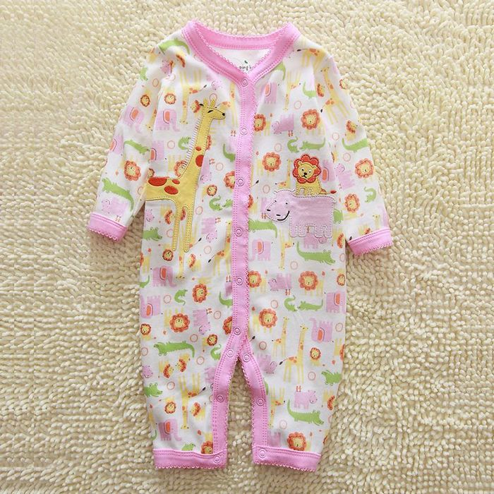 Lovely style 2016 autumn long-sleeved suit 3-12 month baby body suit baby clothes
