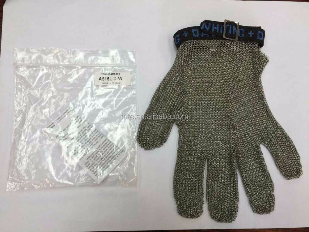 FRANCE WHITING DAVIS STAINLESS STEEL MESH SAFETY GLOVES