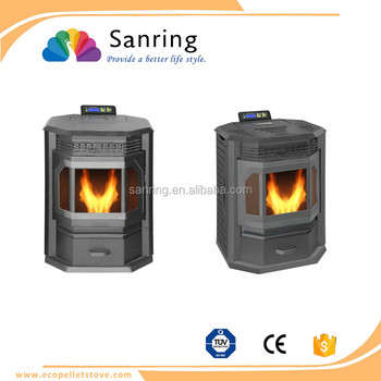 classical 8 KW pellet stove with 50000 btu