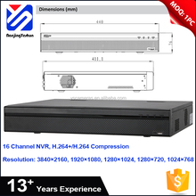 China Supplier poe 1 HDMI, 1 VGA 16 channel 200Mbps network h.265 dahua 16ch nvr