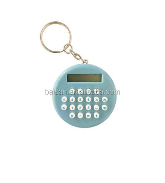 round calculator small size calculator key chain calculator