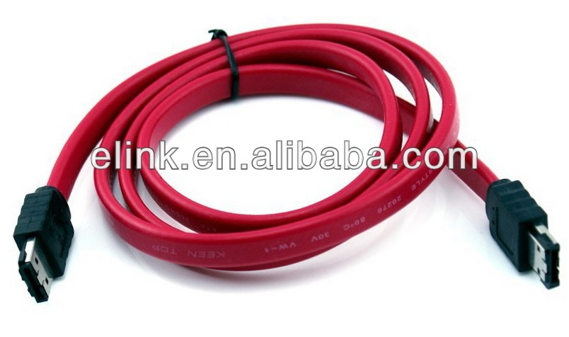 1.2m 7pin sata cables with lock for computer
