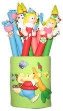 rabbit 5 designs kids cute polymer clay ball-point pen