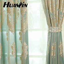 100 polyester cut velvet-plain fabric curtain