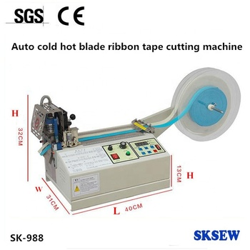computer hot cold knife blade rubber Ribbon Belt Cutting Machine
