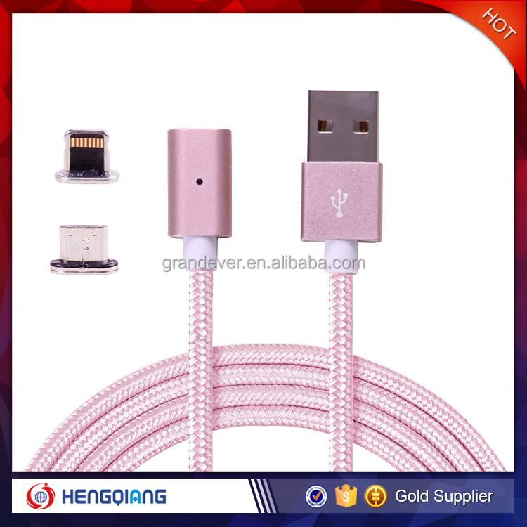 Alibaba online selling 2 in 1 magnetic usb cable for Apple and Andorid