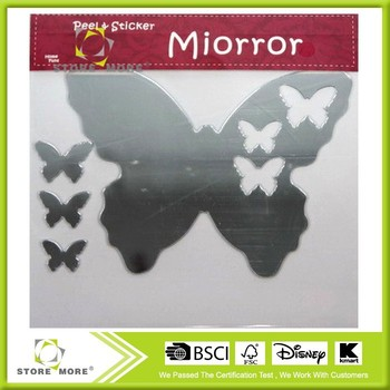 Acrylic Mirror Wall Sticker-Butterfly