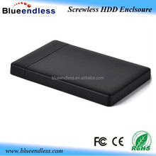 Tool free plastic case usb 3.0 sata external 2.5 hdd enclosure