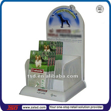 TSD-A071 factory custom promotion countertop pet store equipment,counter display plastic stand,vacuum forming displays