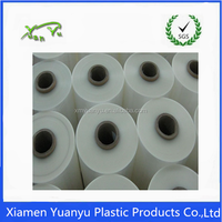 Clear plastic shrink film package bag on roll for industrial used.