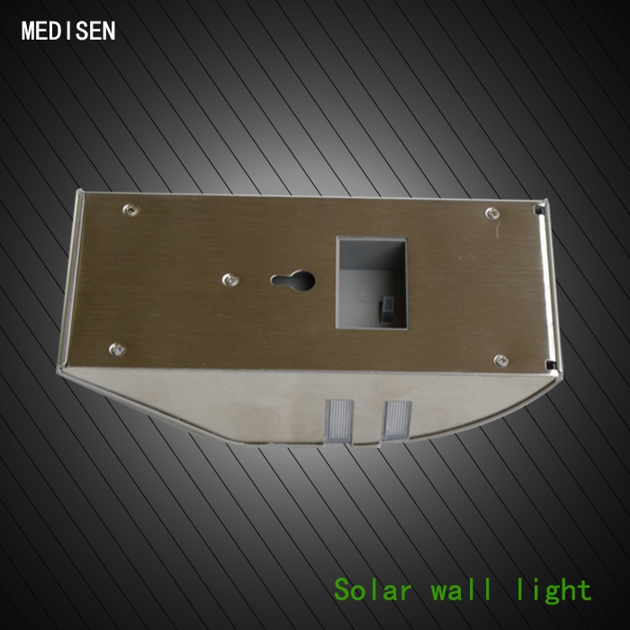 MS-solar wall lamp-0.4 Fod-sports Black Copper Solar Power Light 4 LED Outdoor Solar Smiling Wall Lights Lamp