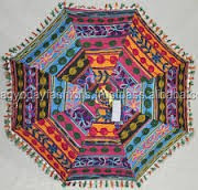 Indian Umbrella Throw Parasol Home Decor Indian Embroidered Umbrella Christmas Gift Patchwork Assorted Umbrella