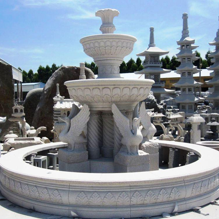 large stone garden statues stone carving marble luxury water fountain