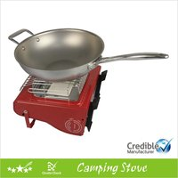 Dual functional gas stove for camping