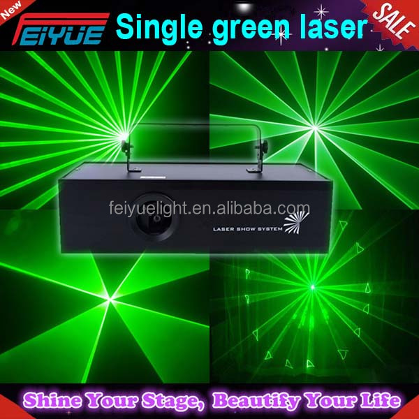 Popular 1 watt 1000mw green laser light ,stage light dj disco DMX512 control 1000mw Single green laser light for stage equipment