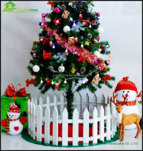 Christmas tree garden fence white plastic fence Christmas Fence christmas decoration