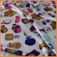 Soft Scarf Dress Material Imitate Silk Sateen Charmeuse Fabrics Stretch