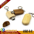 2015 Novelty Wooden USB Pendrive 4GB With Key Chain