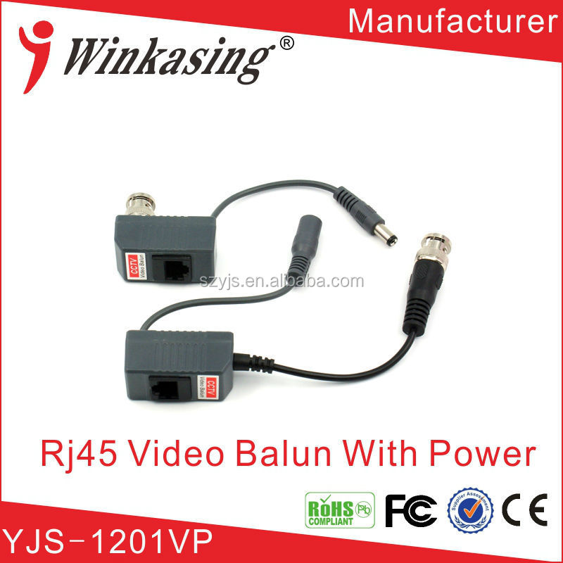 Passive video balun prices with bnc and dc best for distributor and resller