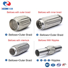 2 Inch Car Stainless steel Flexible Systems Silencer Small Engine Auto Joint Flex Bellows Interlock Exhaust Muffler Pipe