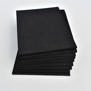 38 degree shore C anti-static black EVA foam sheet high density acoustic cross lined pe foam