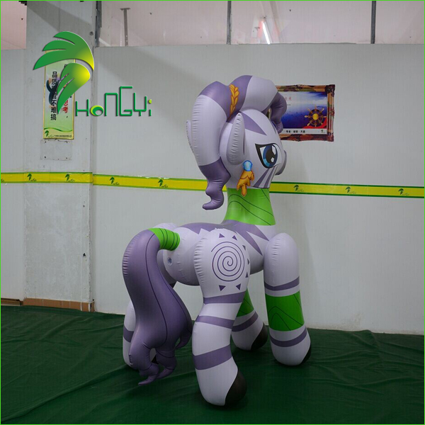 Hongyi High Quality Cute PVC Inflatable Horse Cartoon For Sales