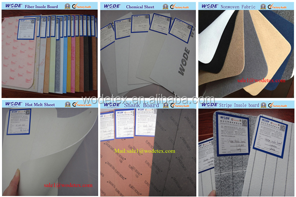 Shoe material solvent chemical sheet for shoe
