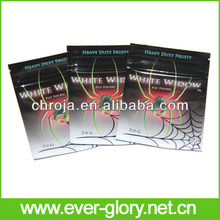 clear front foil back three-layer printed bopp film lamination bags