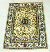 60x90cm chinese tabriz hand knotted silk carpet