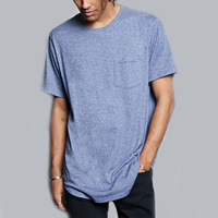 China Apparel Blue Cheap Tee Shirt