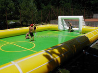 Most popular inflatable football pitch portable football field arena