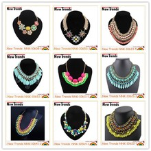 2016 newest design wholesale colorful chunky fashion necklace jewelry