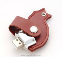 high quality leather USB flash drive electronic gift