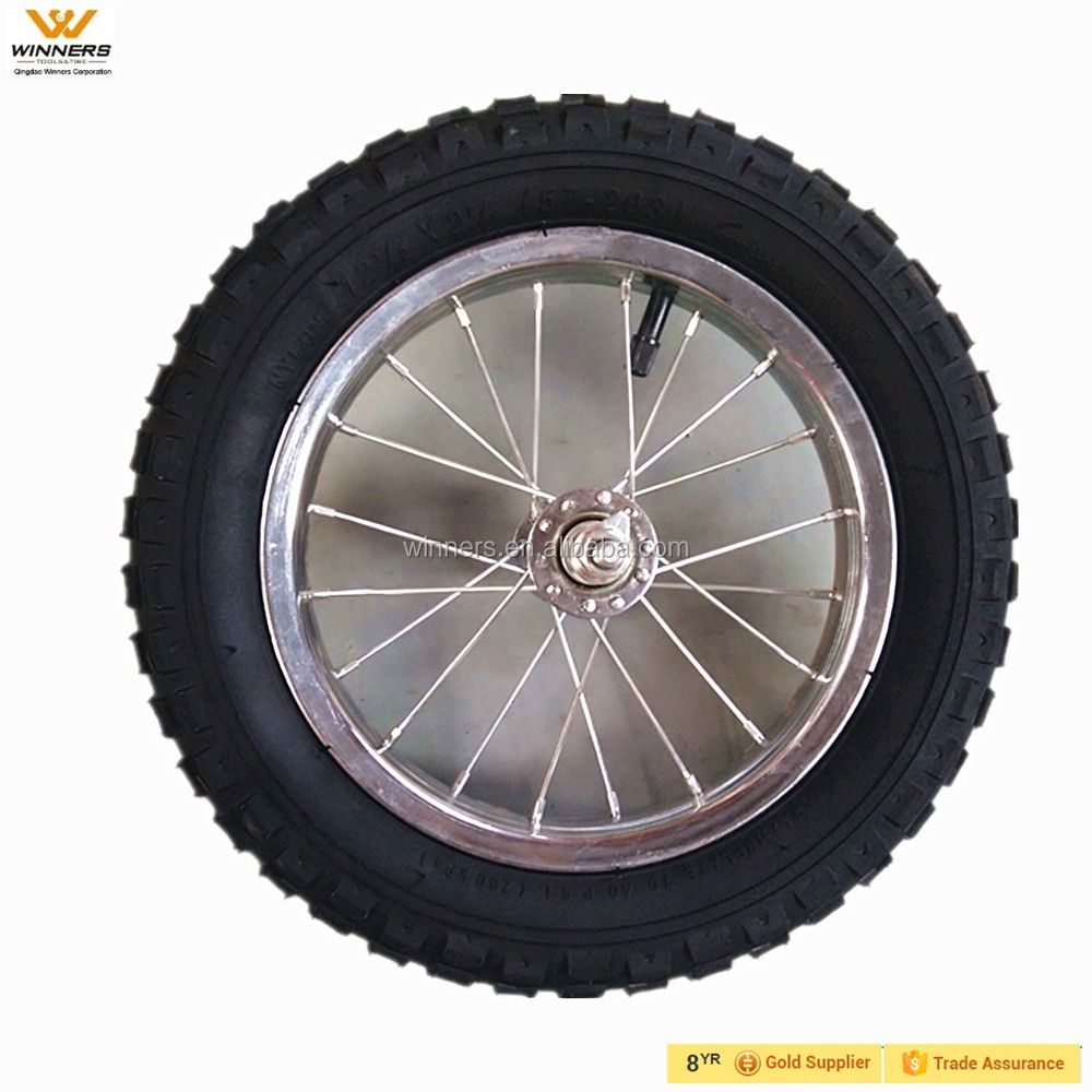 12 inch pneumatic rubber children bicycle wheels