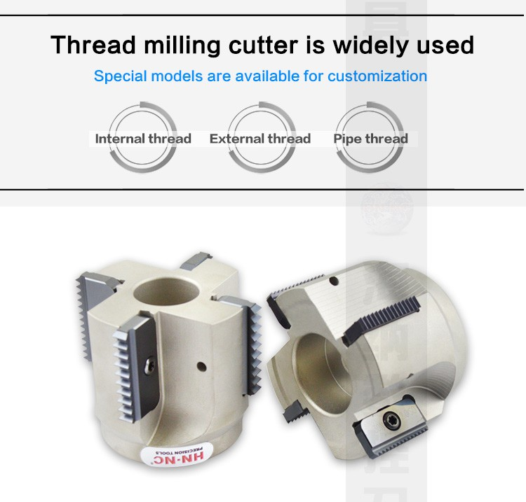 Heiner SR Indexable Thread Milling Cutter CNC Tool Cutter Milling Cutter Thread Cutter