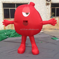 Good Quality Inflatable Walking Cartoon Mascot Model for Promotion