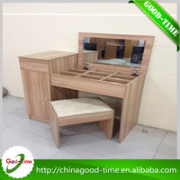China factory wholesale wooden dressing table with mirrors designs