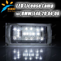 Factory price LED License Plate Light Rear Lamp for BMW E46(2D) E46 M3 18SMD car led number plate lamp