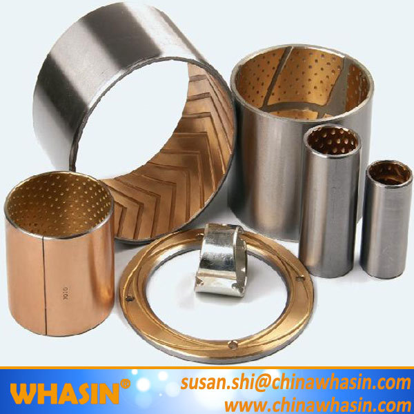 With Round Oil Holes Bronze Bearing Cylindrical Bushing Lead-free Low-maintenance High Density Bronze Bush WB702 Bronze Bushing