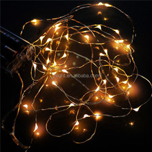 Factory Wholesale CE&RoHS Battery operated warm white 2 m 20 bulb LED rice light/Battery Operated 20 LED Rice String Lights