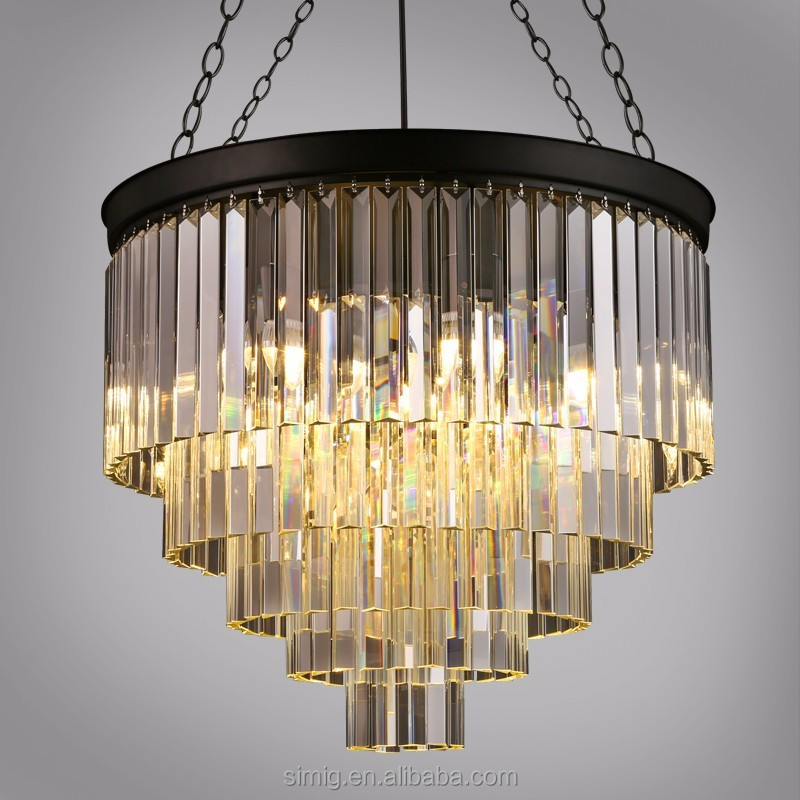 modern luxury LED crystal chandelier lighting pendant lamp for villa and hotel lobby
