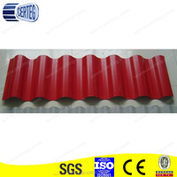 Cheap Corrugated Red Color Coated Galvanized Steel roof sheet