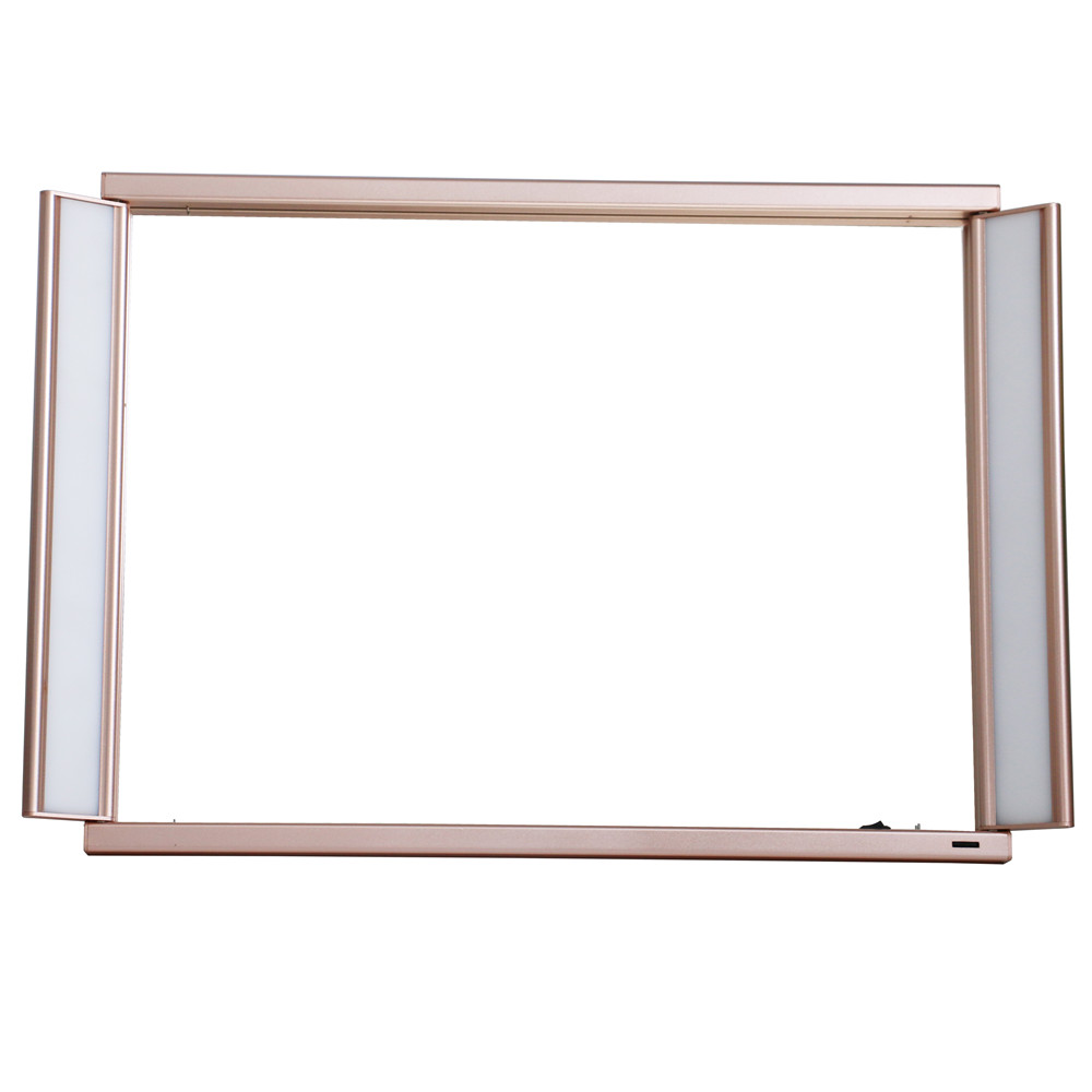 Professional trick standing salon cosmetic mirror with aluminum frame